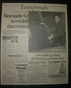 ケベックの新聞に刑されたノマド社創業者ダニエル