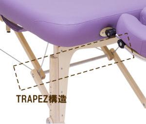 ノマドマッサージテーブルの強さのヒミツは特許取得のトラペズにあり