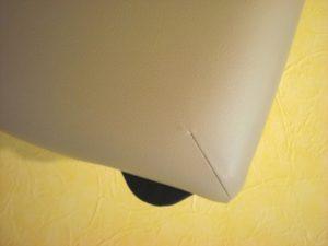 ノマドマッサージテーブル 折りたたんだ状態の時に床につく面