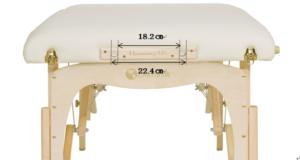 マッサージベッドのヘッドレストの穴の幅の規格
