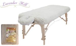 マッサージベッドにかけて使用するモコモコのデラックスフリースシーツセット